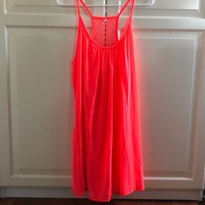 Bright Pink Dress/Cover Up